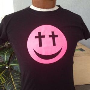 """Image of Ladies Neon Pink """"Cross-Eyed"""" Tee"""