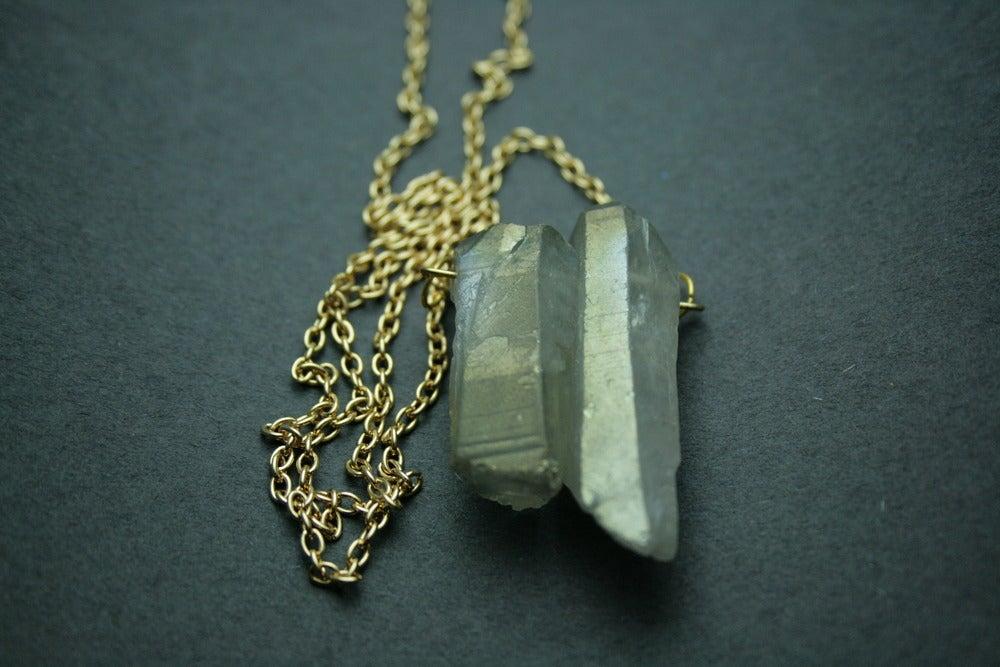 Image of Titanium Quartz Necklace