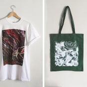 Image of Keepsafe 'Gradient' Tee + 'Green & White' Tote Bag BUNDLE