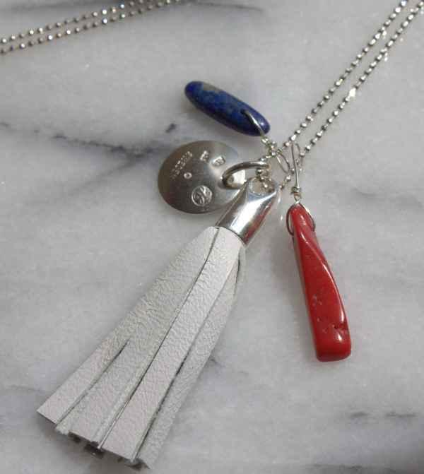 Image of Splendid Nautical/4th of July Tassel Necklace