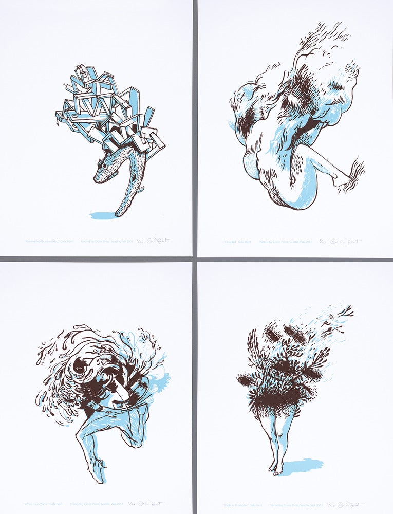 "Image of Suite of 4 prints: ""On Two Legs"""