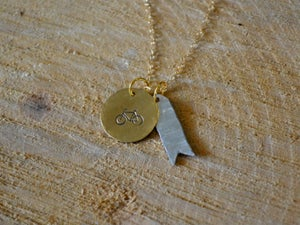 Image of Bike and Banner Necklace