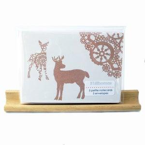 Image of hello deer . . . . . . . . petite notecard set