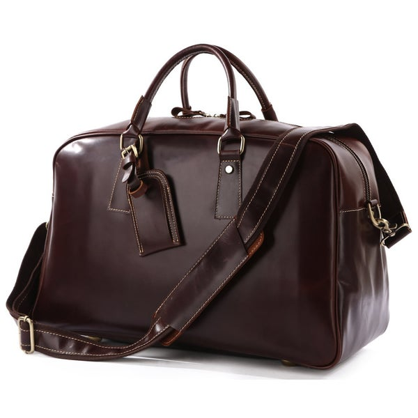 Image of Handmade Leather Business Travel Bag / Weekend Bag / Gym Bag (n93)