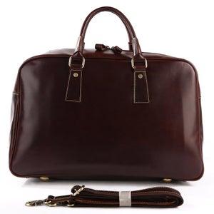 Image of Handmade Leather Business Travel Bag / Weekend Bag / Gym Bag (n93)
