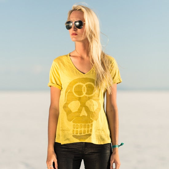 "Image of ""Past a lifetime"" Women's V neck"