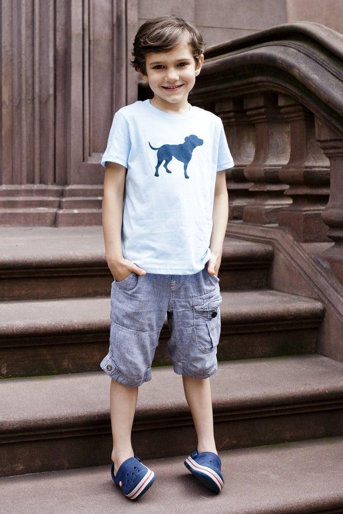 Image of kid's light blue tiny tim tee