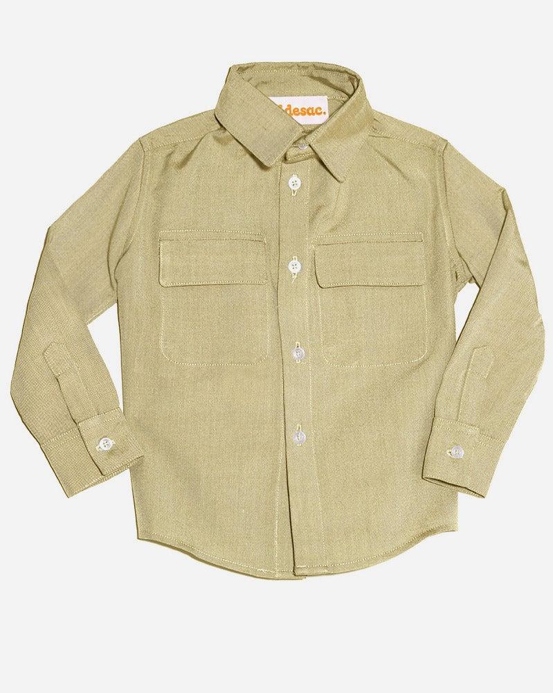 Image of Olive Flap Pocket Shirt
