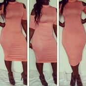Image of Coral Midi Dress
