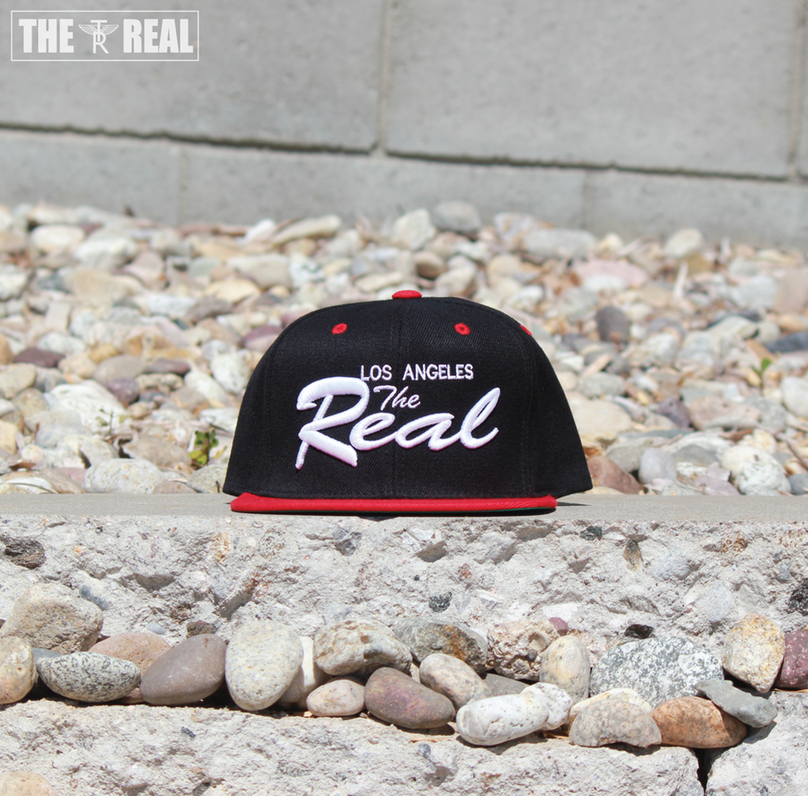 Image of TR LA Snapback (BLACK / RED / WHITE)