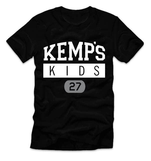Image of Adult Kemp's Kids Logo Tee (Black)