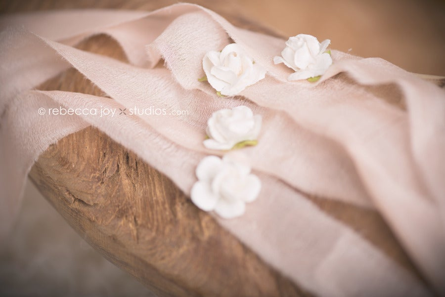 Image of {the Floral Bud} Headband. Peach & Pink Colour