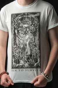 Image of St. Michael the Archangel Sin To Survive shirt