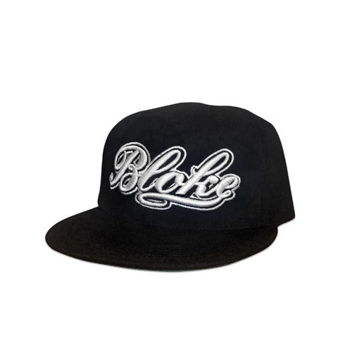 Image of BB Script Snapback (White Embroidery)