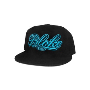 Image of BB Script Snapback (Blue Embroidery)