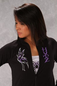 Image of Butterfly / Yoga Zip-Up - Black