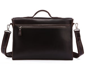 "Image of Handmade Genuine Leather Briefcase / Messenger / 14"" 15"" Laptop 13"" 15"" MacBook Bag (n1)"