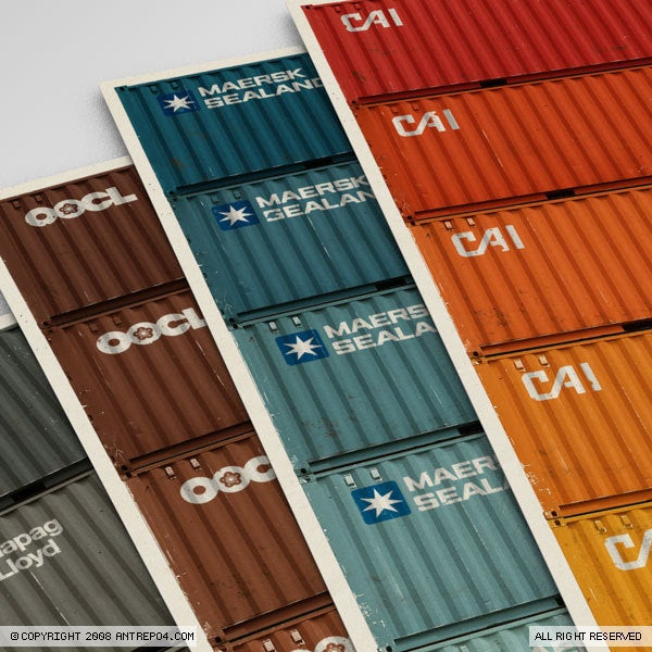 Image of Container Poster Set (5 posters)