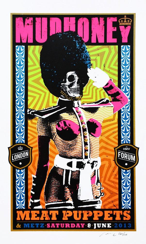 Image of Mudhoney - Meat Puppets - Metz London Silkscreen Poster