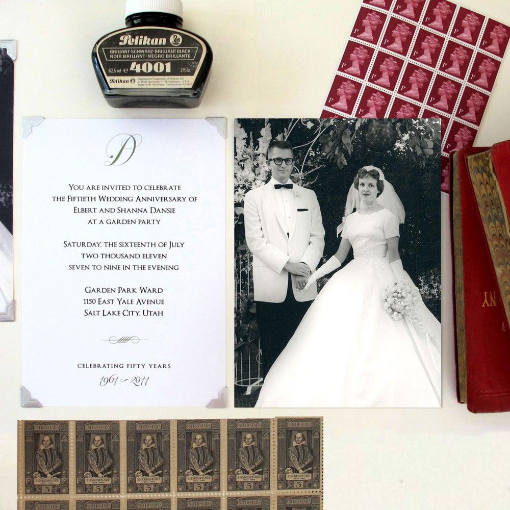 Image of 50th Wedding Anniversary Invitation