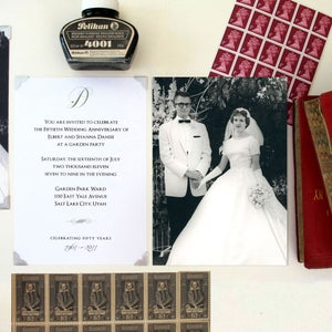 Image of 50th Wedding Anniversary Invitation