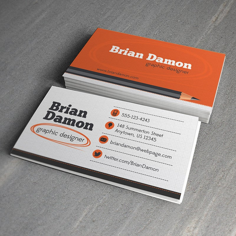 Graphic Designer Business Card Template Design Trunk