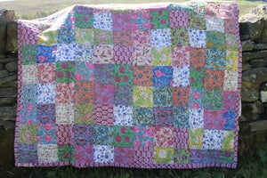 Image of Indian Block Printed Quilt no. One