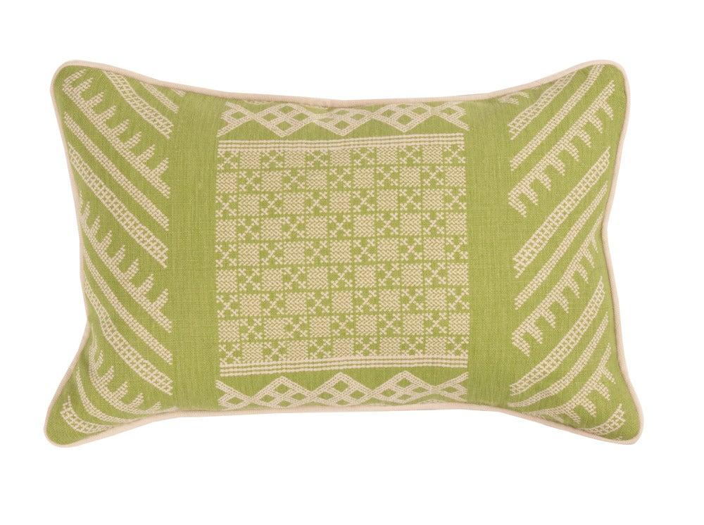 Image of Tangier Natural Margarita Green Pillow