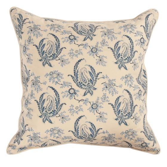 Image of Paisley Stripe Indigo Single Sided Pillow
