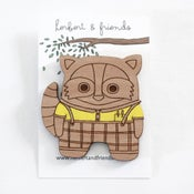 Image of Nerdy Raccoon Brooch