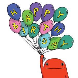 Image of Happy Birthday Balloon  - Birthday Card