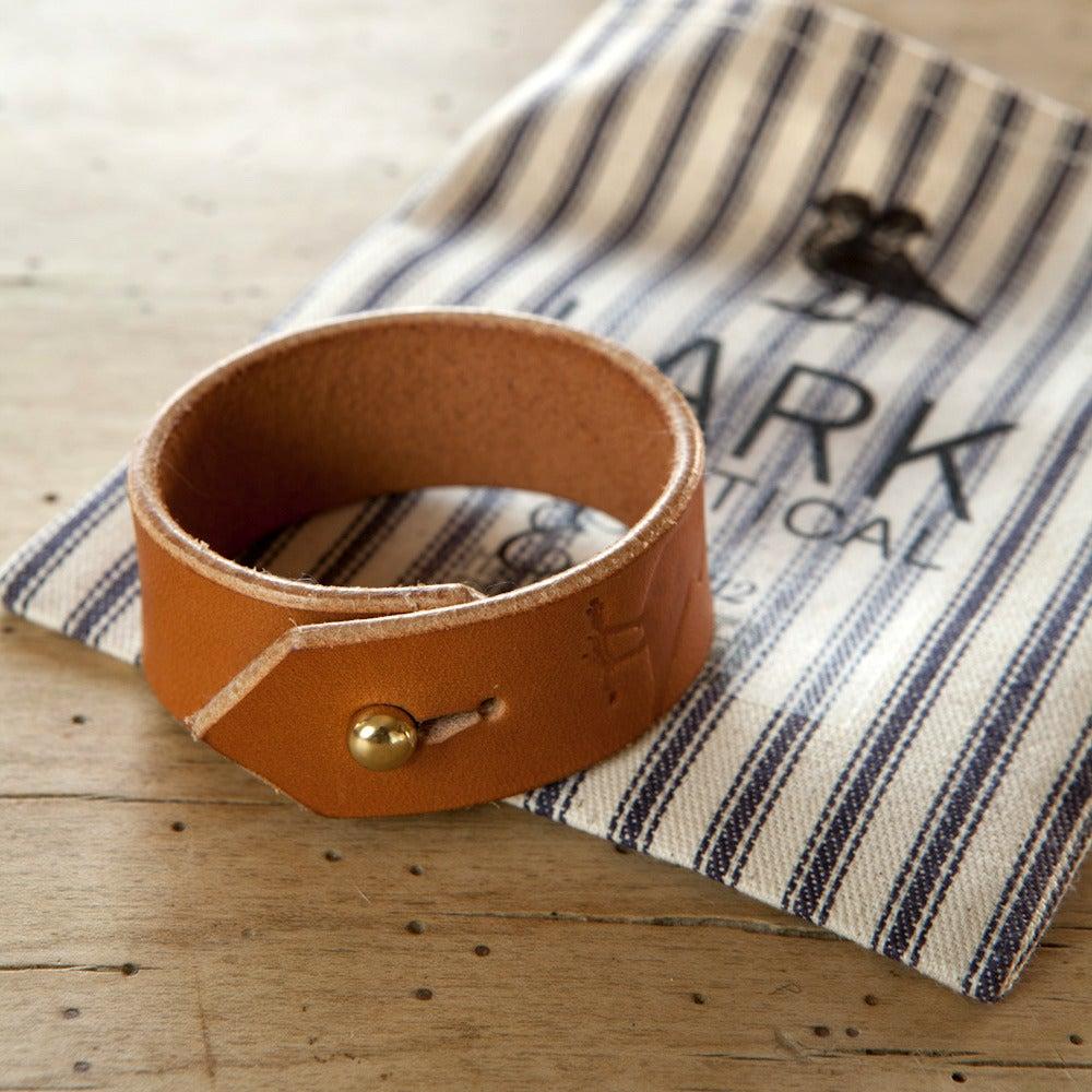 Image of Tan Leather Cuff Bracelet