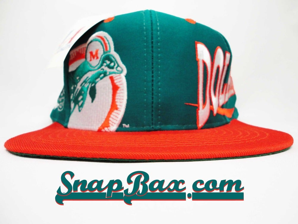 Image of Vintage Deadstock Miami Dolphins Logo Athletic Big Logo Snapback Cap