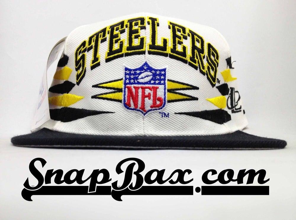 Image of Vintage Deadstock Pittsburgh Steelers Logo Athletic Diamond Snapback Cap