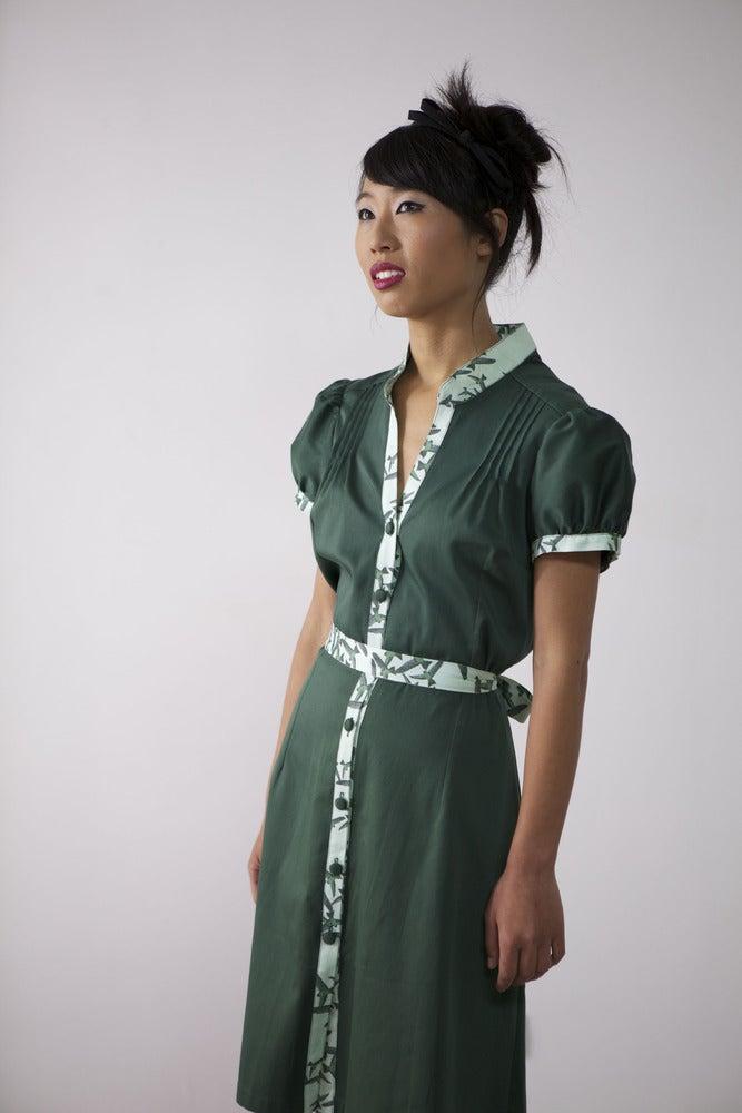 Image of MissSotoka, The birds collection, green dress