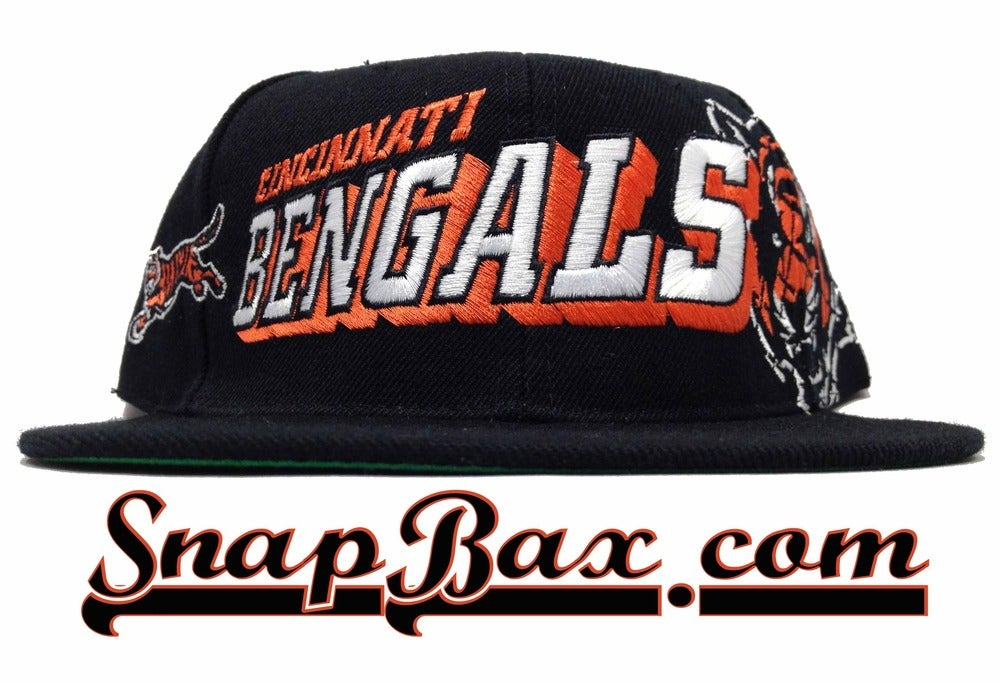 Image of Vintage Deadstock Cincinnati Bengals Sports Specialties Grid Snapback Cap