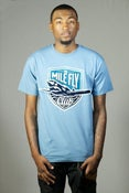 Image of The Mile Fly Club Emblem Tee (Blue)