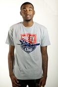 Image of The Mile Fly Club Emblem Tee (Grey)