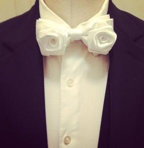 Image of White Rose Bowtie