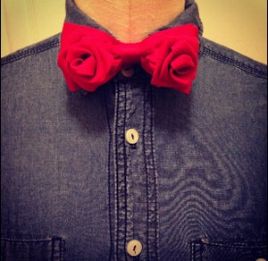 Image of Red Rose Bowtie