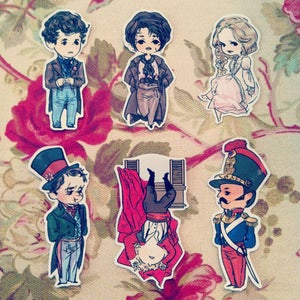 Image of les mis stickers (set b)