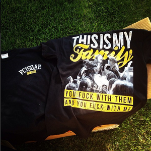 """Image of Five Characters In Search of an Exit """"FAMILY"""" shirt"""