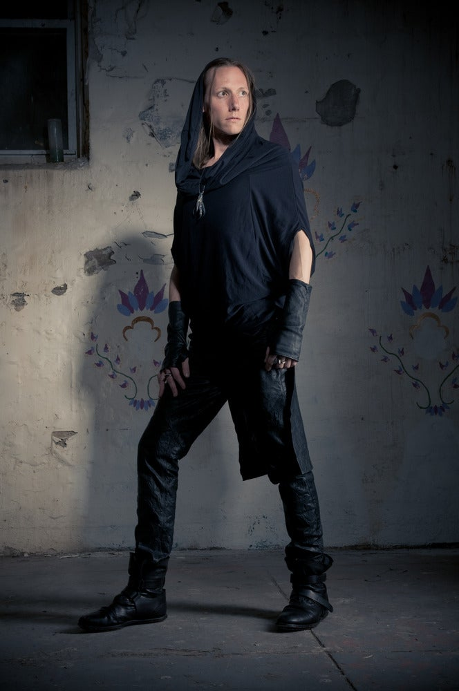 Image of Grimreaper oversized unisex top/tunic in Black for men