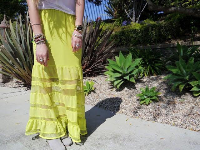 Image of Neon Maxi Skirt