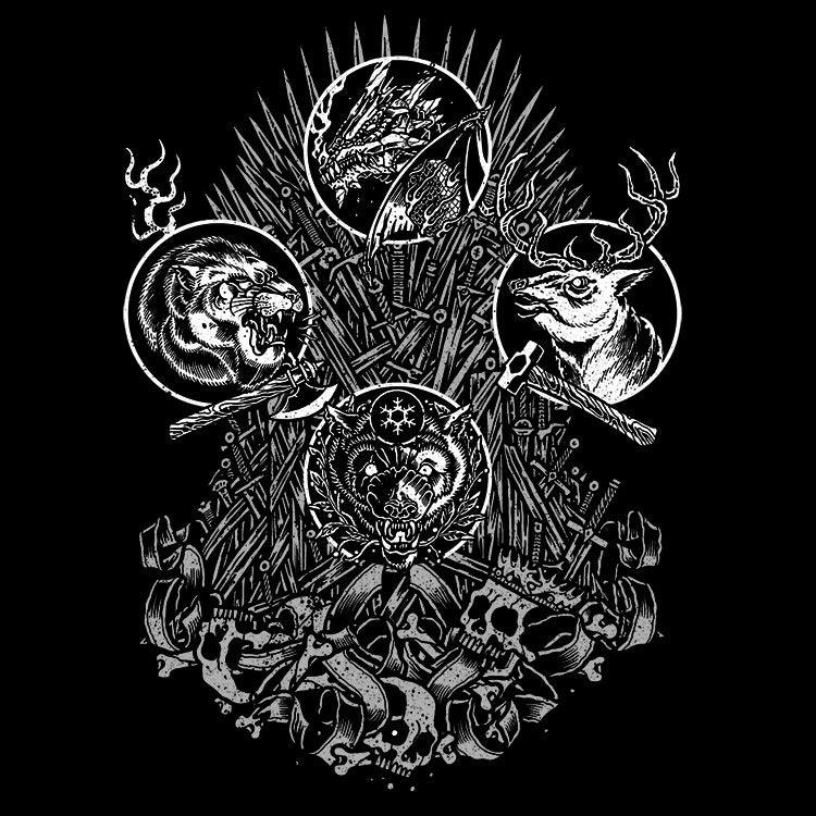Image of Game of Thrones - iron throne - discharge inks - unisex