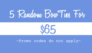Image of 5 Random Bow Ties For $65