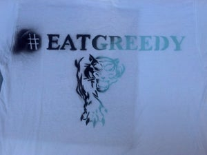 Image of #EATGREEDY - Front of the Shirt
