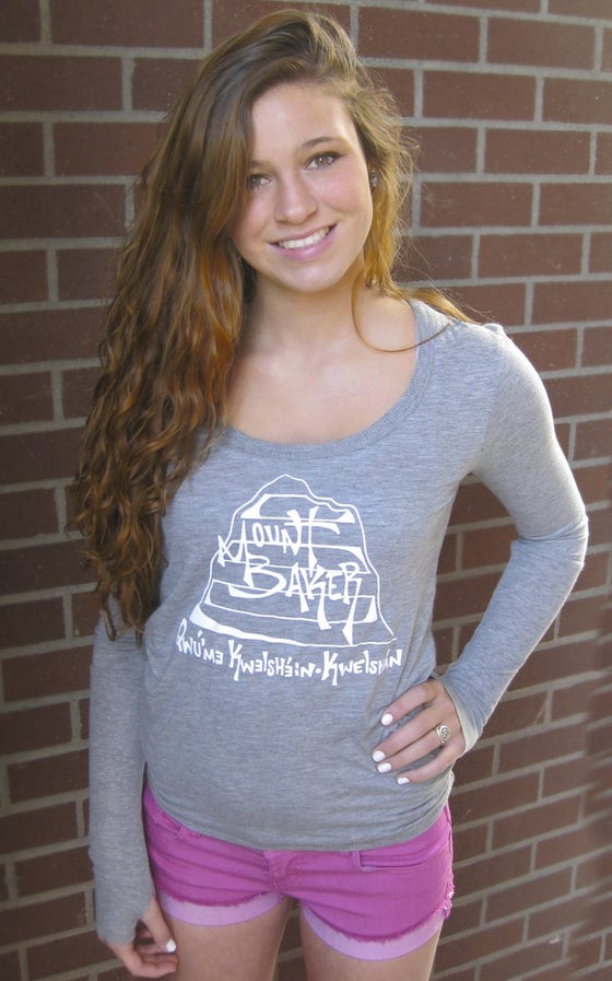 Image of Ladies Mt. Baker Remixed Grey L/S Tee