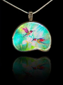 Image of Hummingbirds – Good Luck Totem Pendant