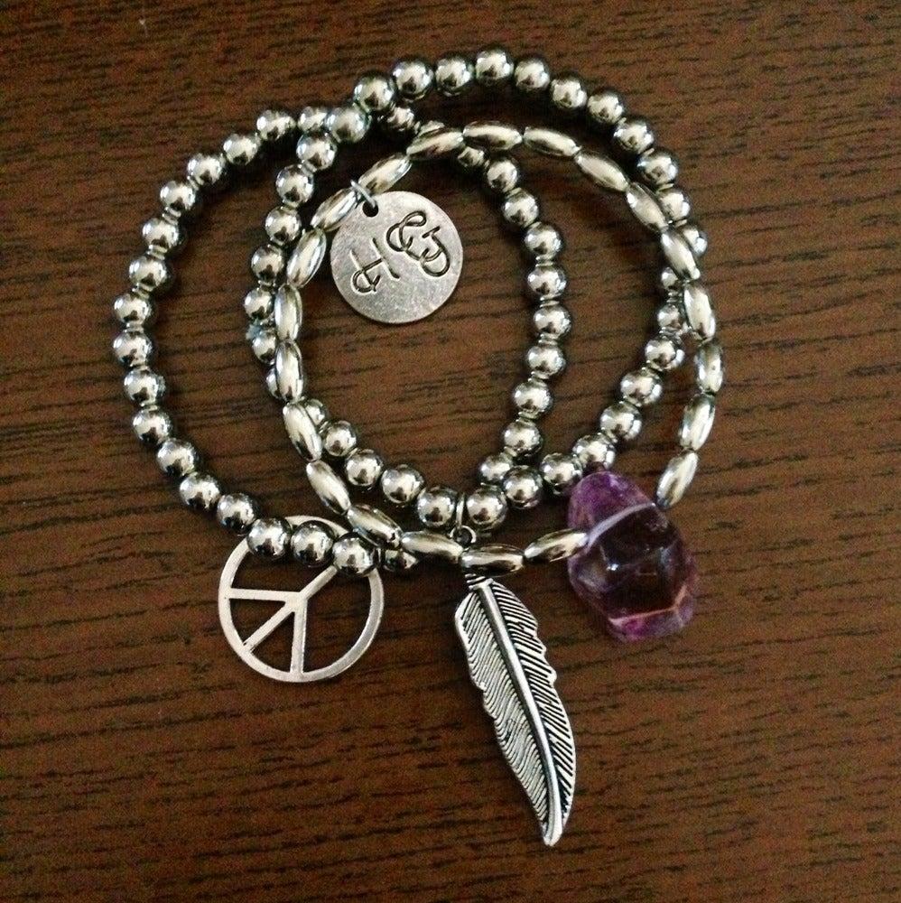 Image of Crystal trinket bracelet set